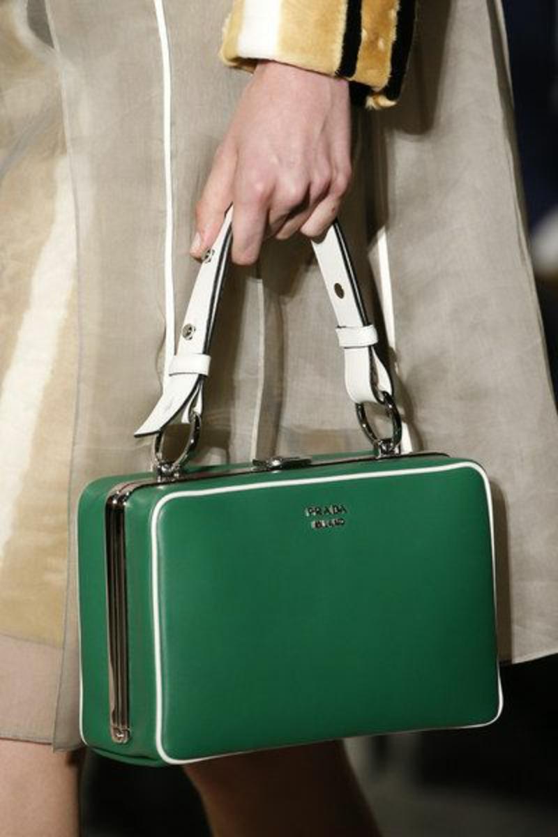 Luxus Handtaschen Prada Handtasche Damen grün