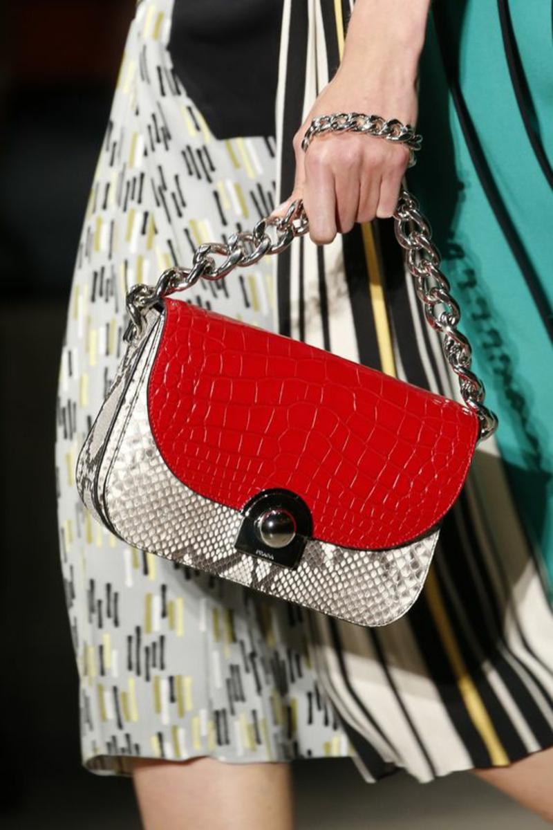 Luxus Handtaschen Prada Handtasche Damen rot