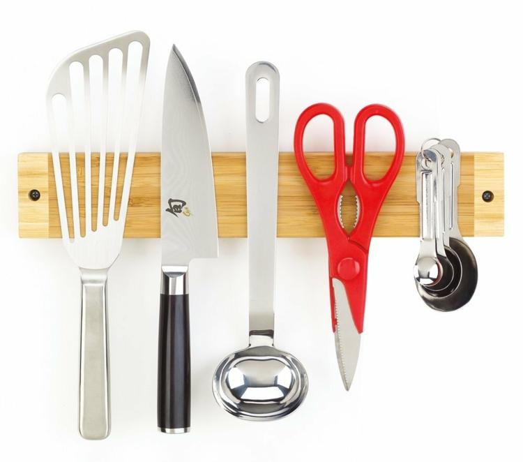 Messer Magnetleiste Holz Küchenutensilien Küchenzubehör