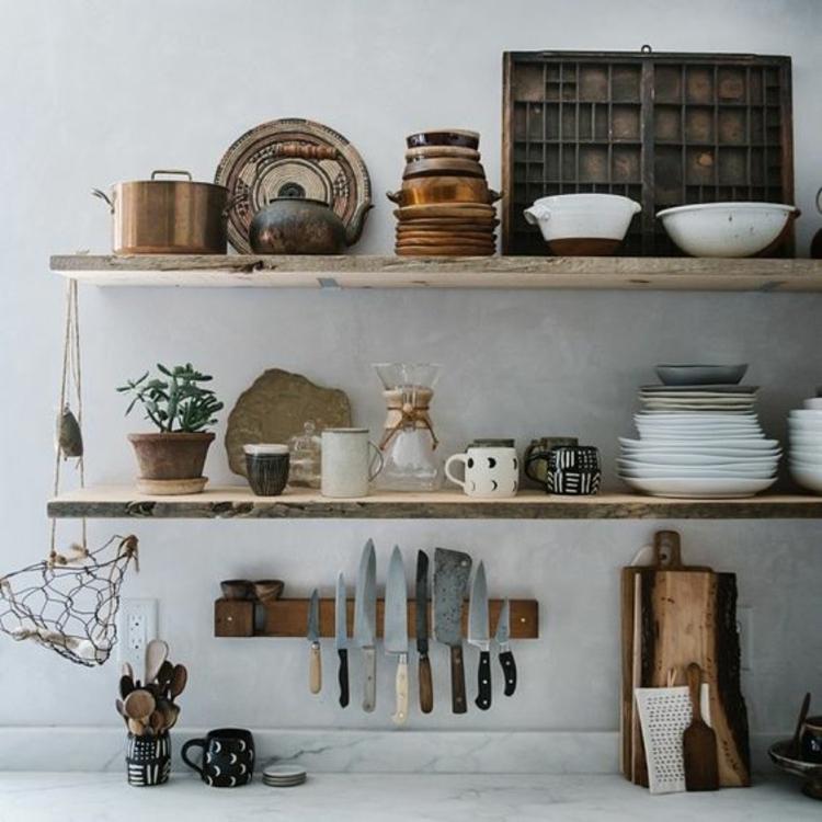 Magnetleiste für Messer Küchenzubehör Küchenregale Holz