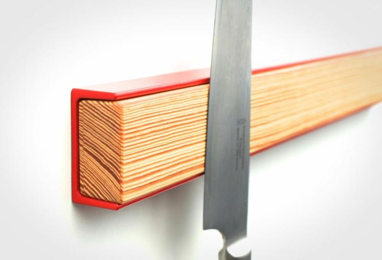 Magnetleiste für Messer Küchenzubehör LumberJac rot