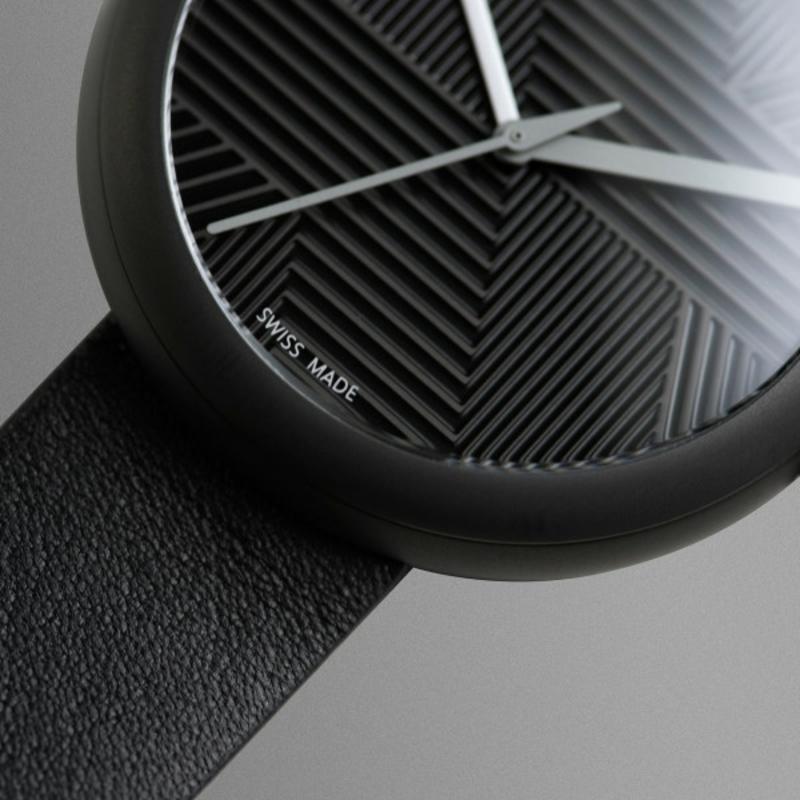 Quarz Armbanduhren schwarz Schweizer Luxusuhren Objest