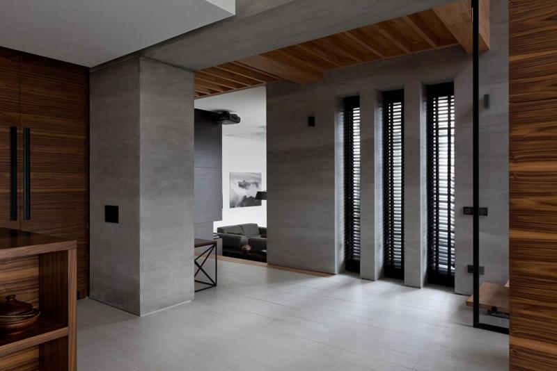 Shore House NOTT Design Studio Wohnungsgestaltung Betonwände