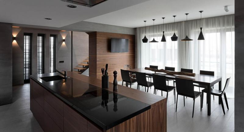 Shore House NOTT Design Studio Wohnungsgestaltung Esszimmer und Küche