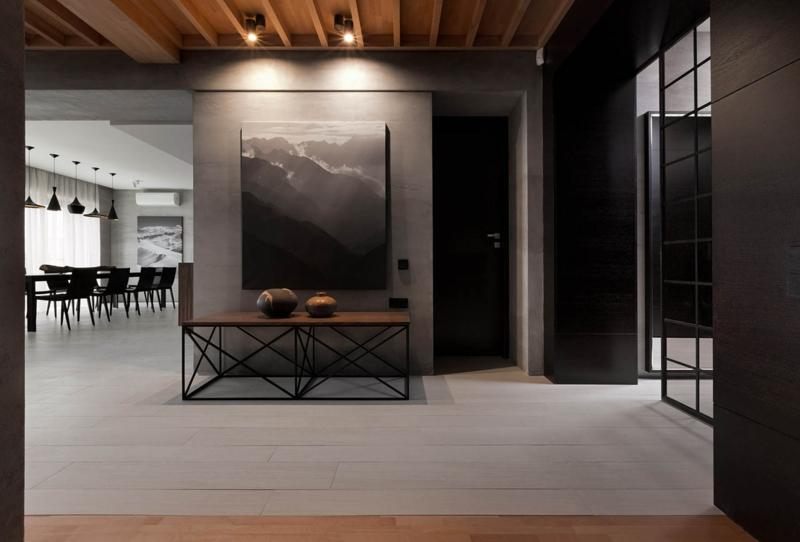 Design Idee für Ferienhaus holz material weiße helle details