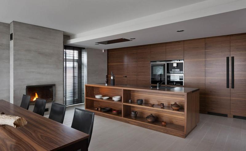 Shore House NOTT Design Studio Wohnungsgestaltung Kücheninsel Holz
