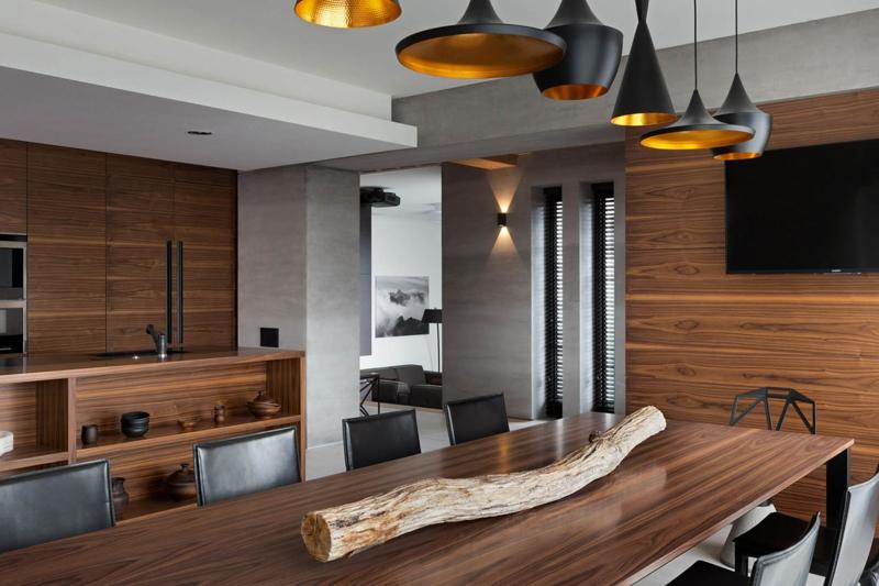Shore House NOTT Design Studio Wohnungsgestaltung Pendelleuchten Esszimmer