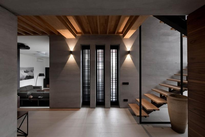 Wohnungsgestaltung vom ukrainischen nott design studio for Moderne wandbeleuchtung