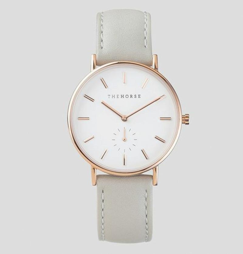 The Horse Damenuhren Design Leder Armbanduhr Damen weiß