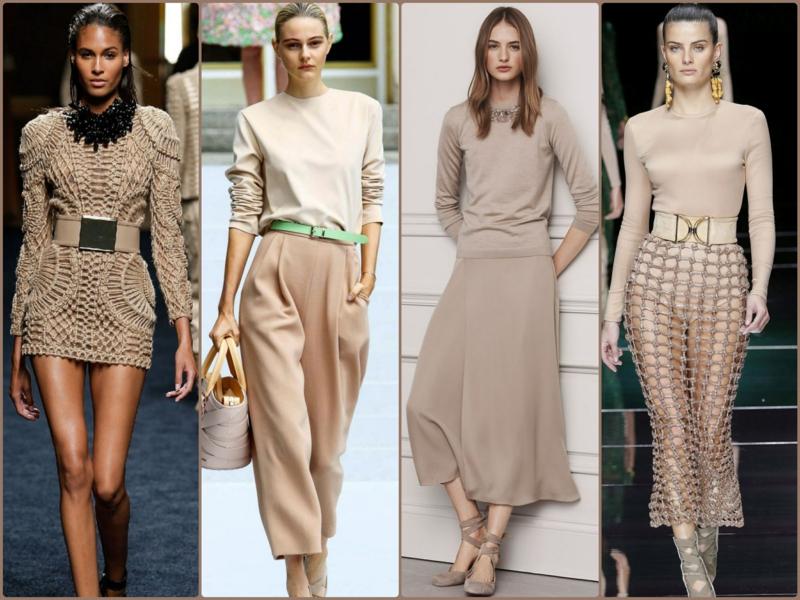 Trendfarben Beige 2016 aktuelle Modetrends beige Kleider