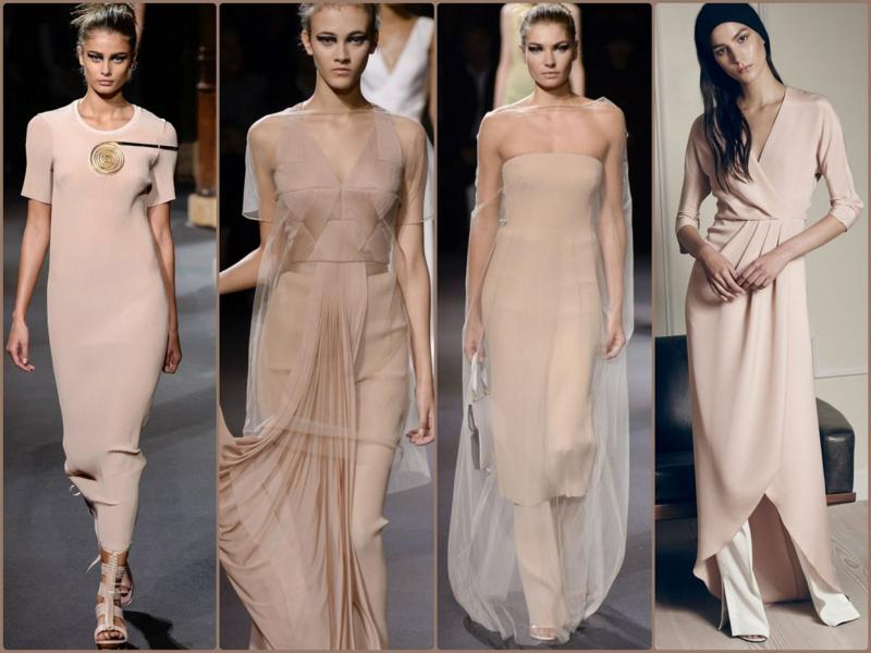 Trendfarben Beige aktuelle Modetrends 2016 Laufstegmode