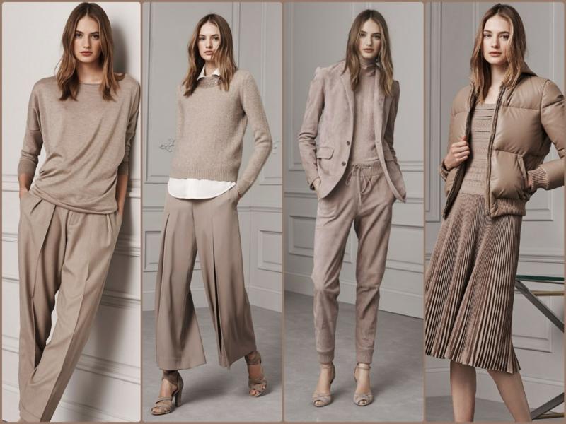 Trendfarben Beige aktuelle Modetrends Ralph Lauren 2016 beige Kleider