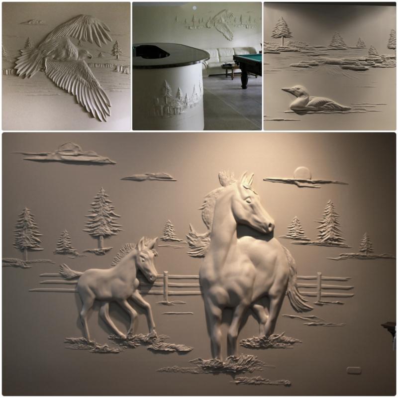 Trockenbauer Bernie Mitchell 3D Wanddeko Ideen Trockenbauwand
