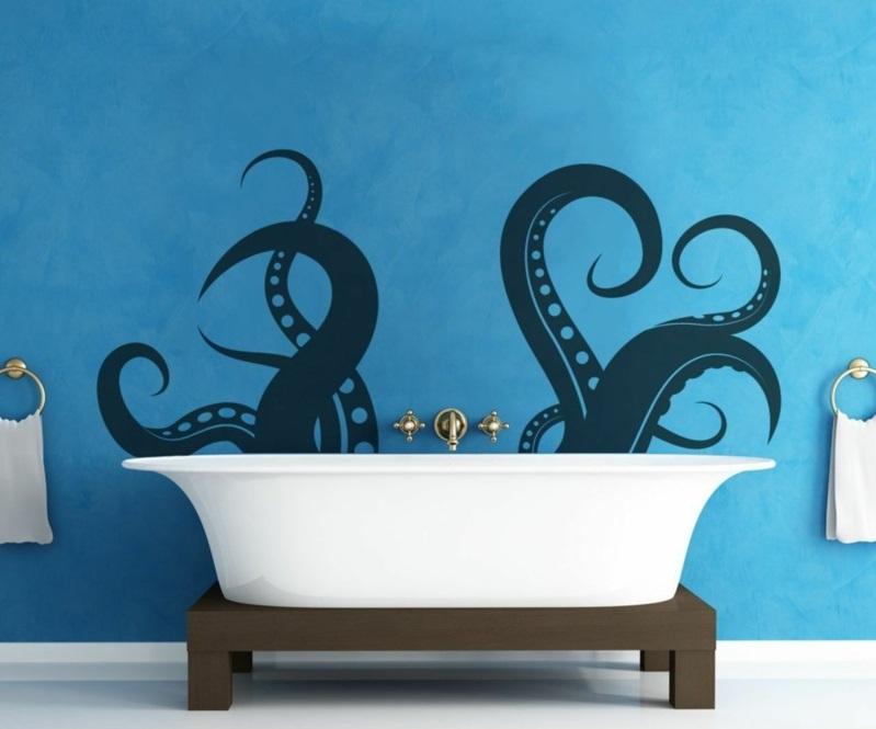 Wandfarben Ideen Badezimmer Wände streichen Farbideen