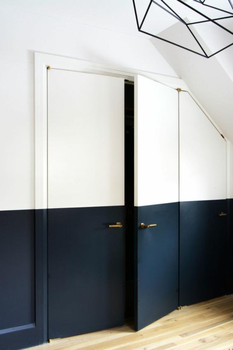 Wandfarben Ideen Dunkelblau Wände streichen Farbideen