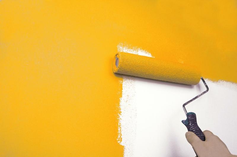 Wandfarben Ideen Gelb Wände streichen Farbideen