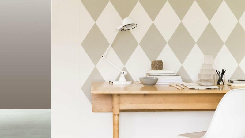 Wandfarben Ideen Grau Muster Wände streichen Farbideen