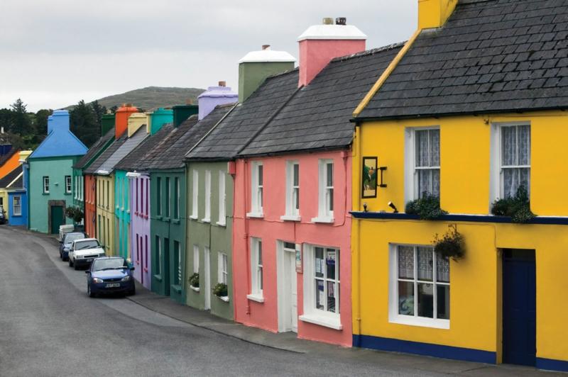 Wandfarben Ideen Hausfassade streichen farbige Häuser