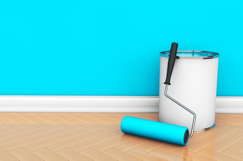 Wandfarben Ideen Hellblau Wände streichen Farbideen