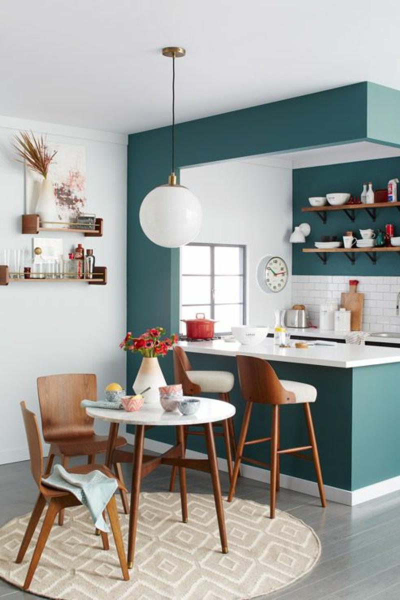 Wandfarben Ideen Wände streichen Farbideen Kücheninsel