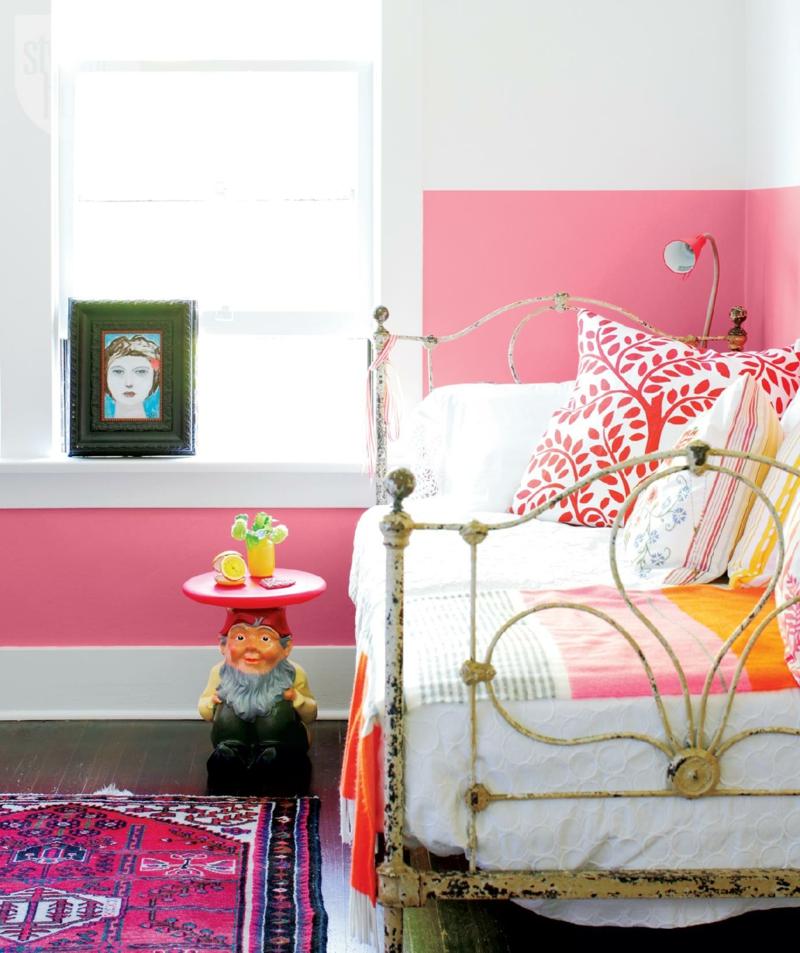 Wandfarben Ideen Wände streichen Farbideen romantisches Schlafzimmer