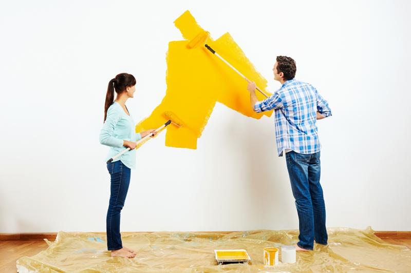 Wandfarben Ideen Wandgestaltung Wände streichen Farbideen