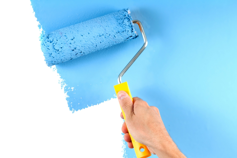Wandfarben Ideen blaue Wandfarbe Wände streichen Farbideen
