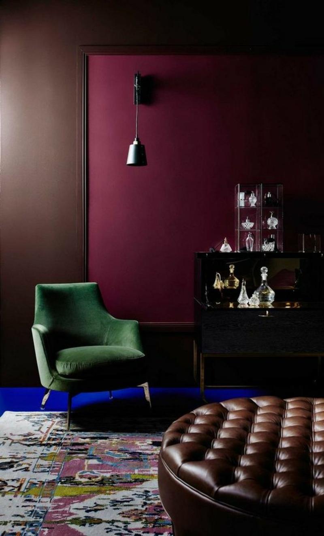 Wandfarben Ideen dunkle Wände streichen Farbideen kreative Wandgestaltung