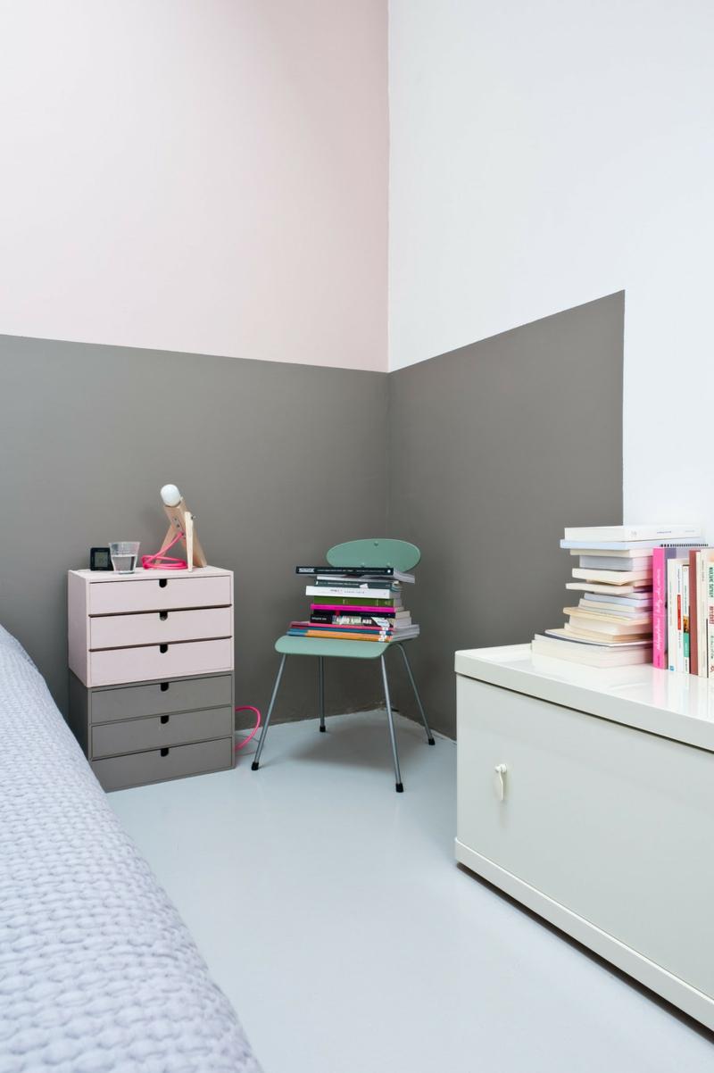 Wandfarben kombinieren Wände streichen Farbideen Bilder