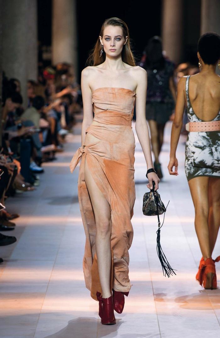 abendkleid abendkleider lang cocktailkleid ombre stil slitz frühlign 2016 kollektion robertocavalli