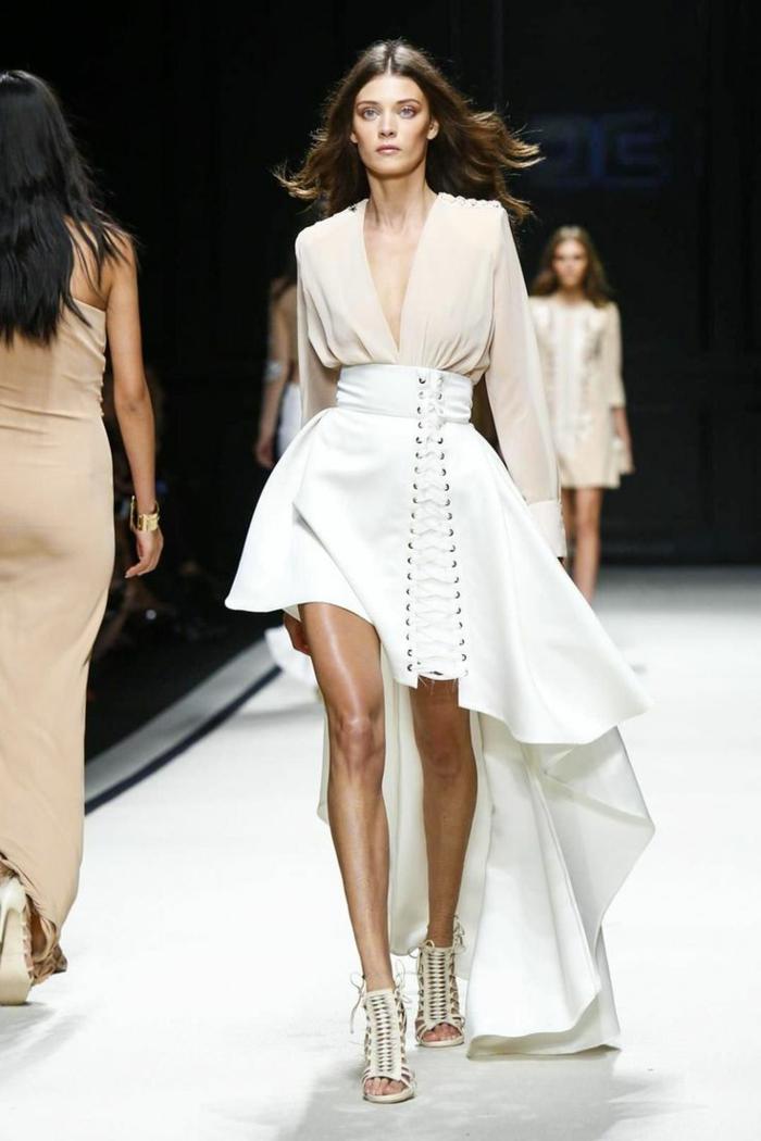 abendkleid abendkleider lang cocktailkleid weiß sommerkollektion 2016 elisabetta franchi