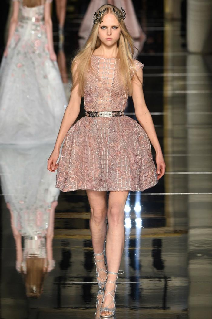 haute couture cocktailkleid nude sommer 2016 zuhair murad