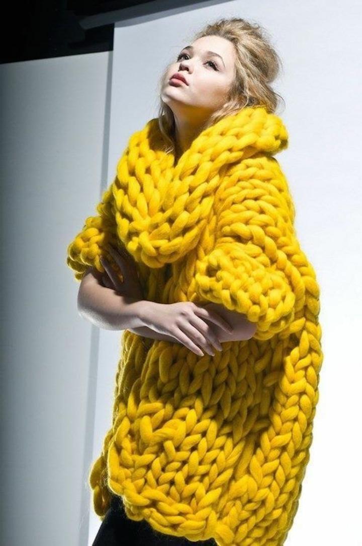 aktuelle Modetrends 2016 Strickmode Damenpullover