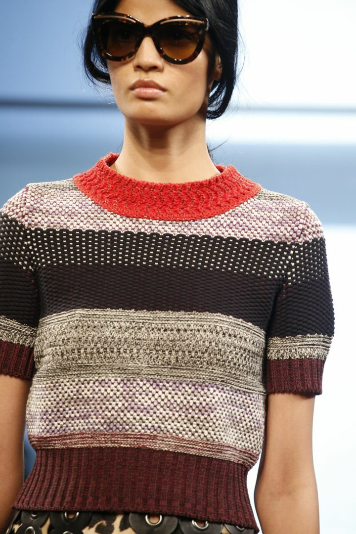 aktuelle Strickmode Bottega Veneta Damenpullover Streifen