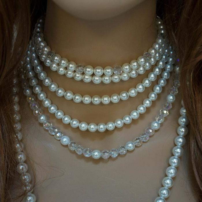 aktuelle modetrends schmuck frauen perlen halskette