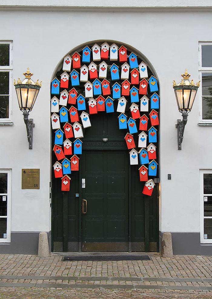 alte Haustüren kreativ dekorieren DIY Ideen