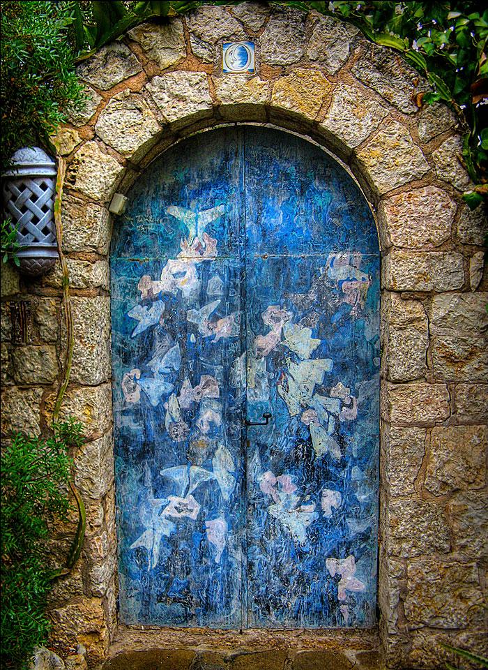 alte Haustüren neu gestalten moderne Haustüren DIY Ideen