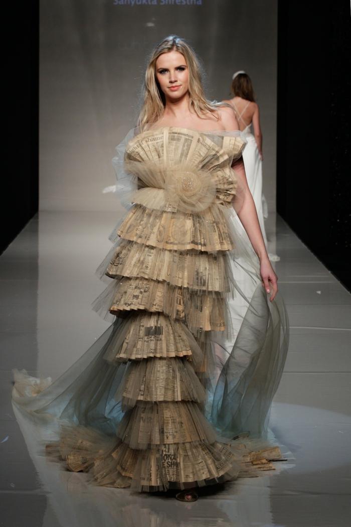 ausgefallene brautkleider haute couture hochzeitskleid alte zeitschriften tüll schleier