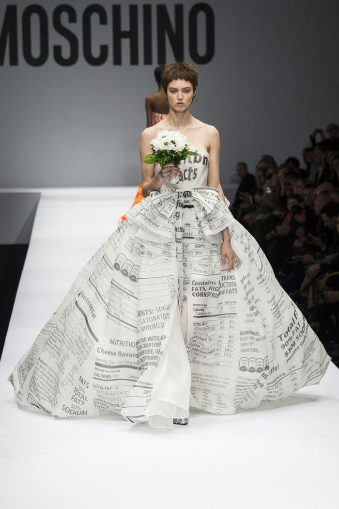 ausgefallene brautkleider haute couture hochzeitskleid brautmode 2014 moschino