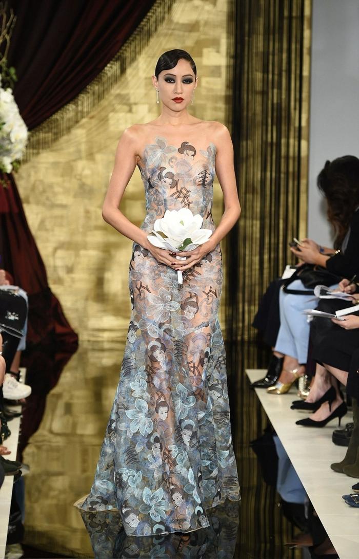 ausgefallene brautkleider haute couture irländische mode hochzeitskleid theia