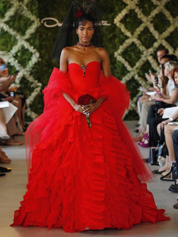 ausgefallene brautkleider haute couture hochzeitskleid oscar de la renta