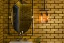 badefliesen-ausgefalene-wandgestaltung-gelbe-wandfliesen