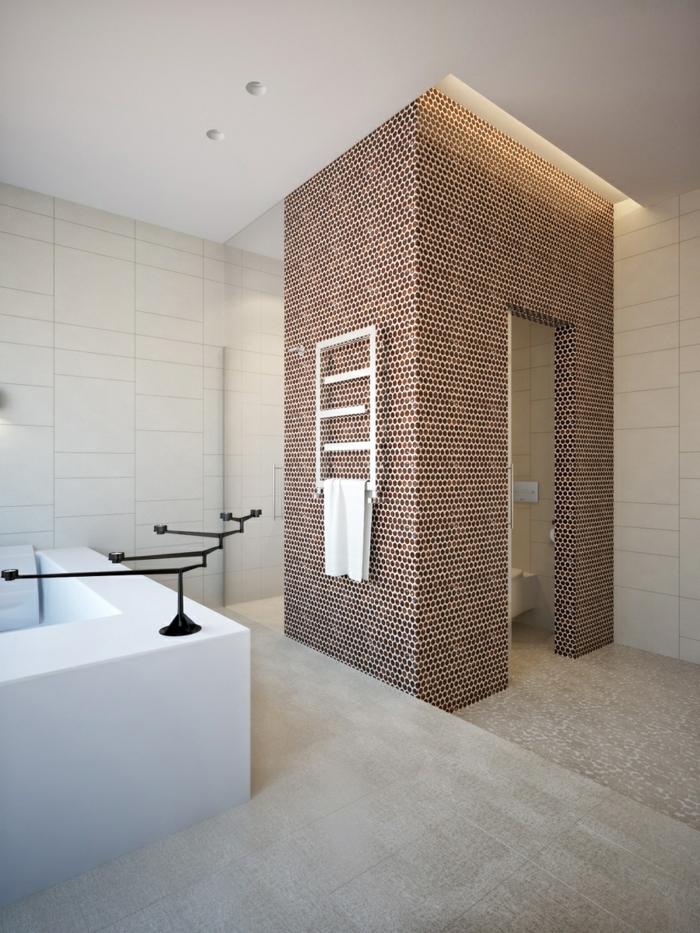 Badefliesen Mosaikfliesen Askzente Setzen Kerzenhalter Badewanne