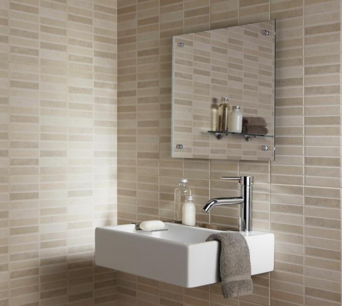 badefliesen neutrale farben wandgestaltung ideen badezimmer