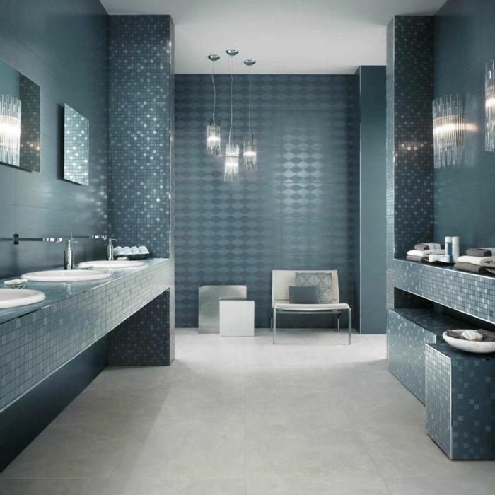 badezimmerfliesen unterschiedliche grüße mosaik dezent