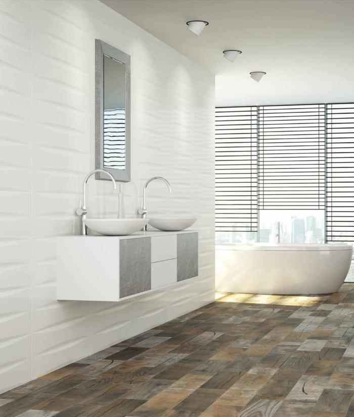 badfliesen bodenbelag ideen badezimmer weiße wandfliesenfarbige ...