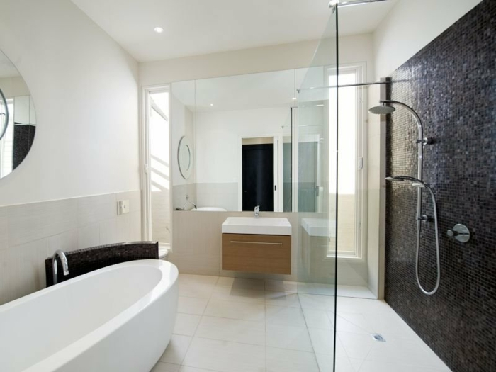 Moderne badezimmer schwarz