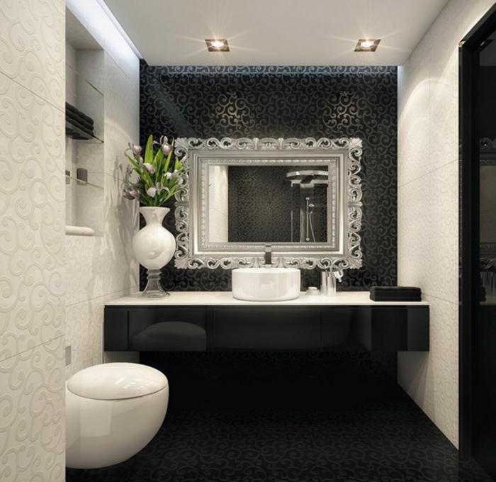badfliesen luxuriös badspiegel deko ornamente
