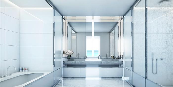 badfliesen weißes bad badewanne dusche blumen