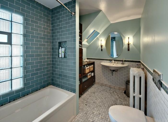 badideen badezimmerfliesen grün weiß hellgrüne wände